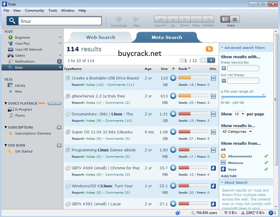Vuze Plus 5.7.5.0 Crack Latest Version