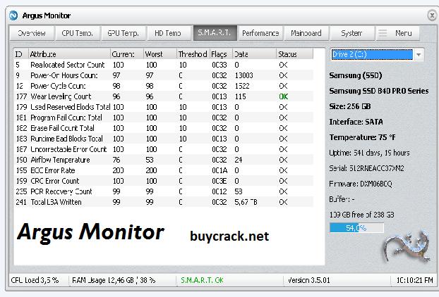 Argus Monitor 6.0.1.2509 Crack Latest