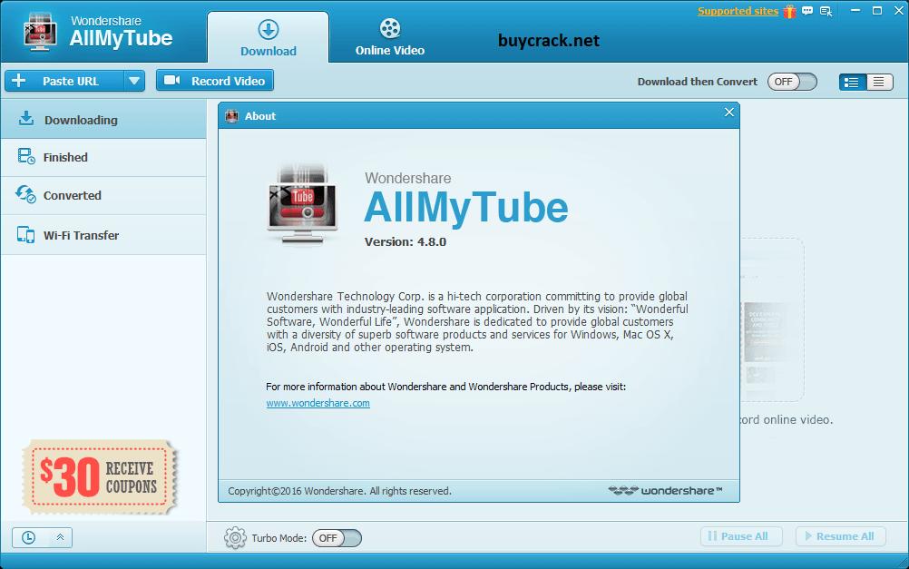 Wondershare AllMyTube 7.5.1.4 Crack Latest