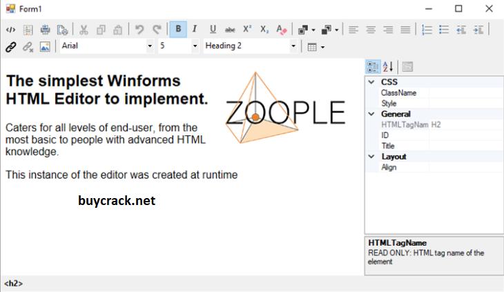 Zoople HTML Editor 2.1.1.271 Crack